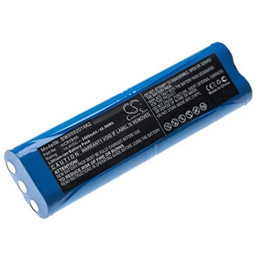vhbw Batería reemplaza Philips 4ICR19/65, 1605A, 1605C, 1605R, 1605W, FC8810, FC8820 para aspiradora, robot de limpieza (3400mAh, 14,4V, Li-Ion)