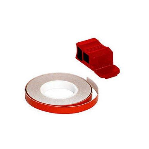 Tiras Adhesivas para Llantas de Moto o Scooter, diseño de Estrellas, Color Rojo