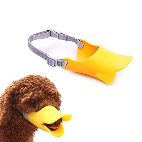 WISMURHI Protectores bucales en Forma de Pato para Perros, Hocico de Perro de Silicona de Pato Lindo Dise, Protectores bucales para Perros pequeños