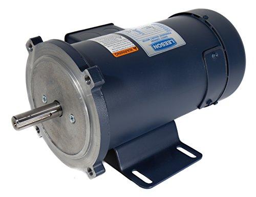 Leeson 108047.00 Low Voltage DC Motor, 56C Frame, C-Face Rigid Mounting, 1/2HP, 1800 RPM, 12V Voltage
