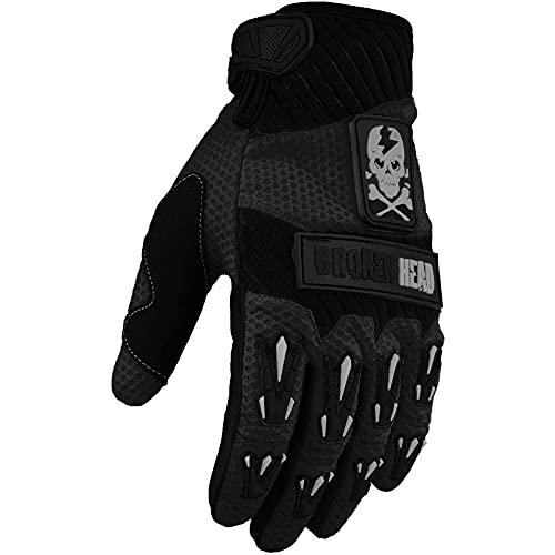 Broken Head MX-Handschuhe Faustschlag - Motorrad-Handschuhe Für Motocross, Enduro, Mountainbike - Schwarz (XL)
