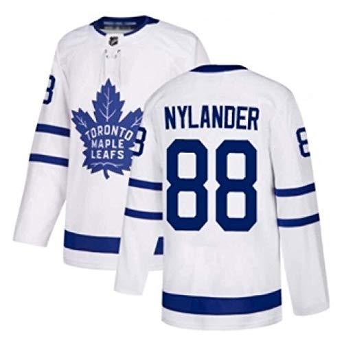 Herren Eishockey Trikots Toronto Maple Leafs 44 Rielly 88 Nylander NHL Jersey Atmungsaktive Sweatshirts Langarm T-Shirt (Color : 2, Size : S)