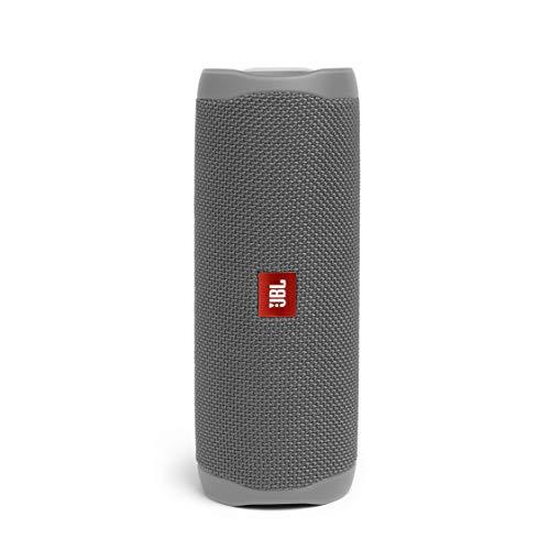 JBL Flip 5 Bluetooth Box (Wasserdichter, portabler Lautsprecher mit umwerfendem Sound, bis zu 12 Stunden kabellos Musik abspielen) grau