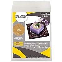Mr-Label 2.5インチ ラウンドクラフトブラウンラベル - インクジェット&レーザープリンター用円形ラベル - ギフト装飾用自己粘着ステッカー | ハンドクラフト | ジャー蓋 90 labels