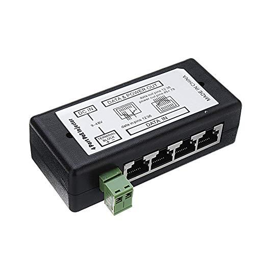 JJBHD Electronic Accessoires & Supplies 5 stücke 4Ports Poe Injector Poe Splitter for CCTV Network Poe Kamera Macht über Ethernet IEEE802.3AF Um Ihnen die Qualität der Exzellenz bereitzustelle
