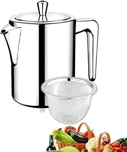 Botella de aceite y vinagre Dispensador de botellas de vinagre de aceite 304 Acero inoxidable Aceite de oliva Botella de aceite a prueba de fugas Botella de aceite de gran capacidad de plata con filtr