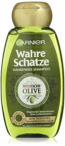 Garnier Wahre Schätze Shampoo Mythische Olive, nährt und regeneriert sehr trockenes, beanspruchtes Haar, 250 ml