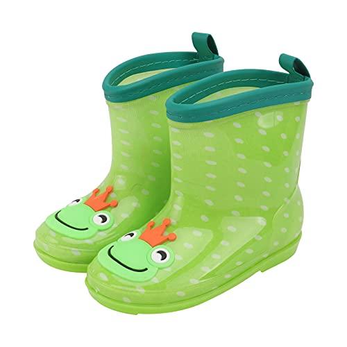 Generic Unisex- Crianças Dos Desenhos Animados Sapatos de Chuva À Prova De Água Anti- Slip Padrão Sapo Fácil Em Leve E À Prova D' Água Botas De Chuva para Meninos Meninas- Tamanho 29