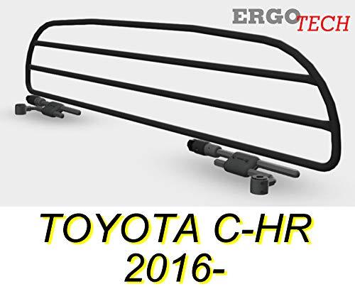 ERGOTECH Divisorio Griglia Rete Divisoria per Toyota C-HR, RDA65HBG-XXS, per Trasporto Cani e Bagagli