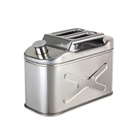 Las latas de gas, gasolina latas 10L / 2.6 galones, tanque de combustible Piezas de tanques de metal gasolina Bidón Monte coche de la motocicleta gas puede Gasolina Aceite recipiente de combustible de