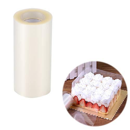 OurLeeme 10cm * 10cm Torta colletti in acetato, strisce di torta trasparente Collari rotoli nastro di bordo circostante per cioccolato Mousse di cottura, decorazione di torte