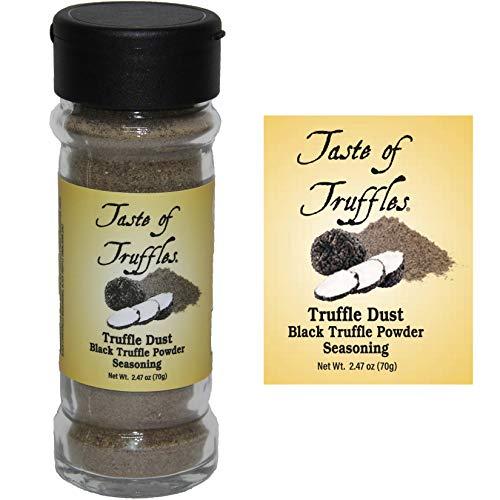Truffle Dust | Black Truffle Powder Seasoning | Winter Black Truffle Gourmet Food Condiments | Wt. 2.47oz (70g)