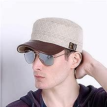 KLNOC Sun Hat Fashion Men Baseball Cap Spring Summer And Autumn Solid Color Adjustable Hip Hop Hats Men'S Flat Top Hat