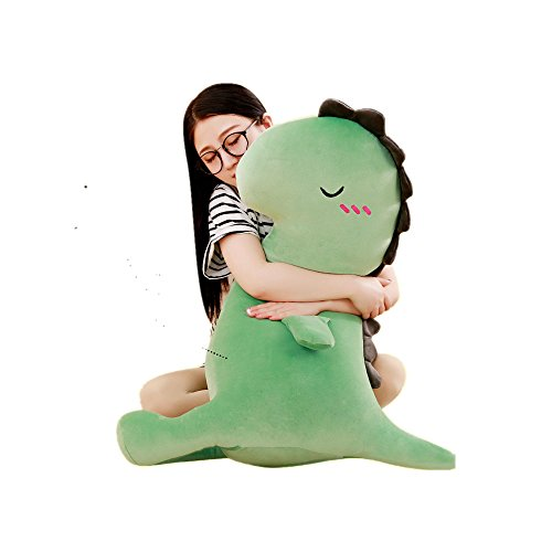 Large Dinosaur Pillow Cartoon Super Soft Animal Plush Toys Sofa Cushion Baby Birthday Party Gifts (15.7in, Green)