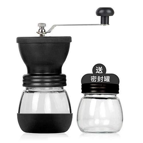 ODSHY Elektro/manuelle Kaffeemühle Mini-Handbuch Edelstahl-Handbuch Coffee Bean Grinder Grinder Küchenwerkzeugschleifmaschine Küche (Farbe : Manual)