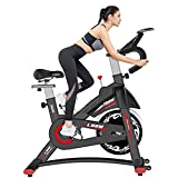 L NOW Indoor Exercise Bike Indoor Cycling Stationary Bike, Belt Drive with Heart Rate, Adjustable Seat and Handlebar, Tablet Holder, Stable Quiet and Smooth for Home Cardio Workout(D600) (D600-B)
