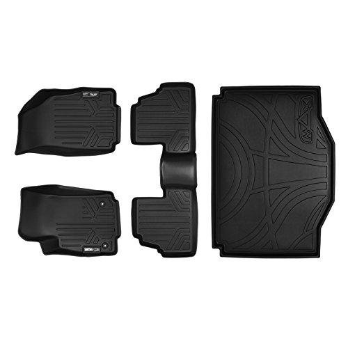 SMARTLINER Custom Fit Floor Mats 2 Rows and Cargo Liner Set Black for 2013-2019 Buick Encore / 2014-2019 Chevrolet Trax