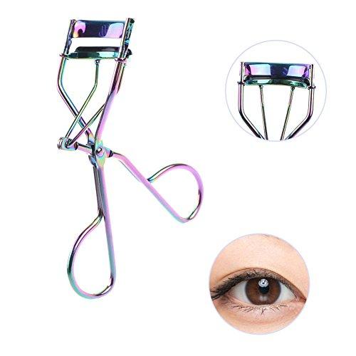 xMxDESiZ Pinzas coloridas rizadoras para mujer, herramienta de maquillaje de ojos grandes
