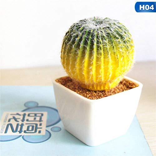 HYLZW Kunstbloem potplant mini potplanten tuin kunstplanten cactus bureau decoratie vervalste kunststof plant voor doe-het-zelf huistuin decoratie