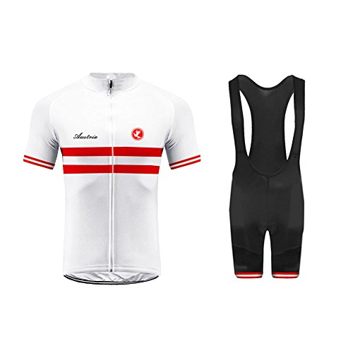 Uglyfrog Bike Wear Sommer Herren Radsport Anzüge Kurzarm Cycling Jersey + Trägerhosen Sport Bekleidung Kit Country - Code