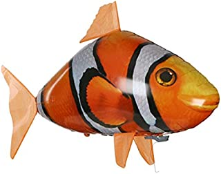 Candora Inflatable Shark/Clownfish Toy Flies Through The Room with Remote Control for Pool Party Decorations Indoors and Home Parties (Clownfish)