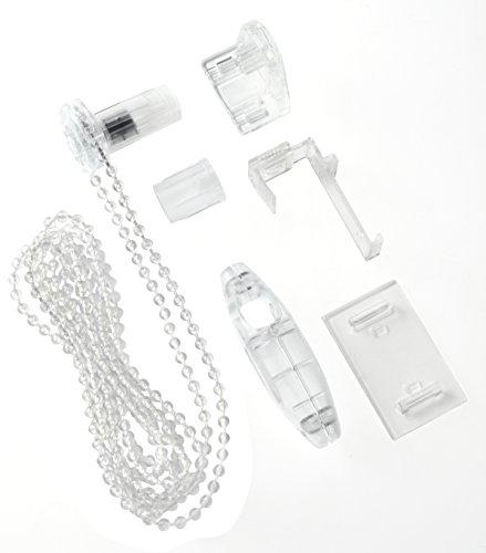 GARDINIA Design-Set für EASYFIX Rollos, Umbauset zum Kleben oder Klemmen, Transparent