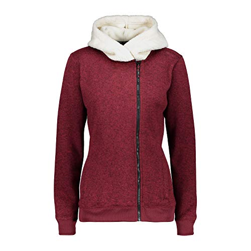 CMP Fleecejacke Jacke Woman Jacket FIX Hood ROT ATMUNGSAKTIV WÄRMEND (38)