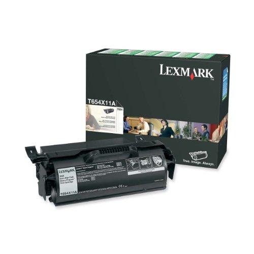 Lexmark T654X11A T654 T654n T654dn T654dtn Toner Cartridge Return Program (Black) in Retail Packaging