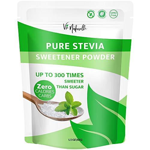 Pure Stevia Powder & Stevia Sweetener - Organic Powder for Baking & More - Brown Sugar Substitute & Alternative - Keto Sugar - 1.5 oz - 1500 servings