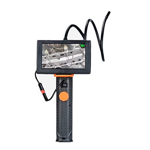 Cámara de endoscopio Industrial a Prueba de Agua, cámara de boroscopio HD con 6 Luces LED Ajustables, Ideal para inspección de tuberías, Paredes, hogares, ventilación y alcantarillado