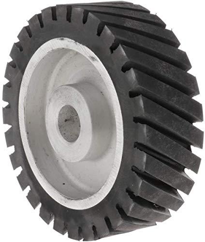 1 stuk aluminium kern riem slijper rubber wiel gekarteld rubber contact wiel voor mes maken slijpmachines dia150x50x25mm
