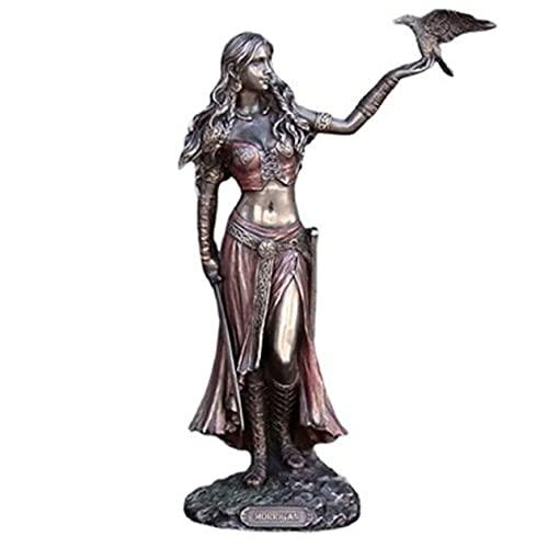 ZXCVB Morrigan - Figura de Estatua de Diosa, decoración de Escultura de jardín de mitología Celta, Diosa de la Guerra y la Muerte, Escultura Religiosa, Adornos de Modelo Wiccan coleccionables