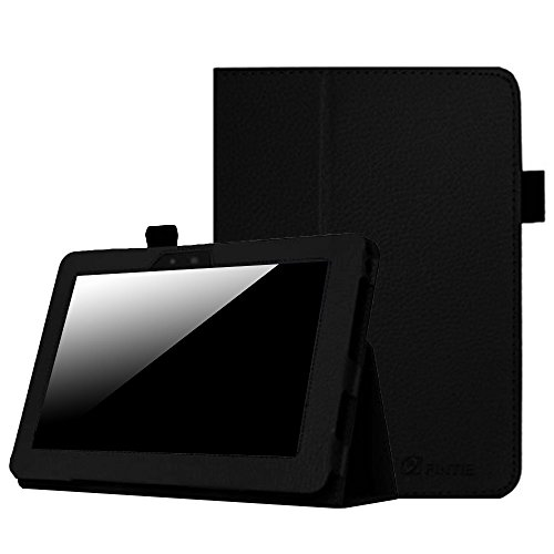 Fintie Folio Case for Kindle Fire HD 7 (2012 Old Model) - Slim Fit Leather Cover with Auto Sleep/Wake Feature (Will only fit Amazon Kindle Fire HD 7, Previous Generation - 2nd), Black