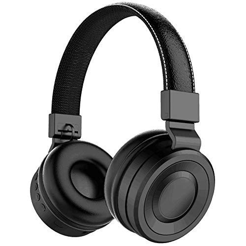 Auriculares Diadema On Ear Bluetooth Forme Cascos Bluetooth con Micrófono Controlador de 40 mm Headphone con TF FM MP3 MP4 para PC, Móviles, Tablet