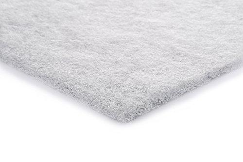 Filtermatte G4 weiß 1 x 1 m von Fischer Luftfilter verwendbar für Brink/Viessmann/Stiebel/Pluggit-Geräte zum Selberzuschneiden mit Schere / Cuttermesser