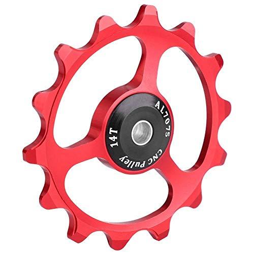 HAIHAOYF Rueda Jockey polea 14T aleación de Aluminio MTB Bicicleta Cambio Trasero,...
