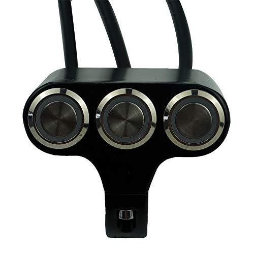 CAIZHIXIANG Interruptor del Manillar de la Motocicleta Montaje Faro Peligro Luz de Niebla del Freno Encendido Apagado 12V 7/8'22mm Botón de Interruptor
