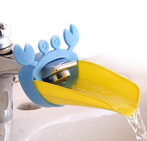 SACALA Wasserhahnverlängerung für Kinder, Handwaschbeckengriffverlängerung, sichere Wasserhahnverlängerung für Babys, Blauwal, 4 Stück