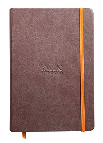 Rhodia 118743C Mobile Rhodiarama, A5 Notebook with Bungee Cord, Portrait Notebook, 96 Sheet, Brown