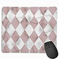 """Marble Luxury Check Rhombus Seamless Pattern Mouse Pad Non-Slip Rubber Gaming Mouse Pad Rectangle Mouse Pads for Computers Desktops Laptop 9.8"""" x 11.8"""""""