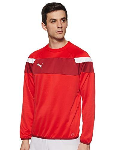 Puma, Sudadera para Hombre Spirit II Entrenamiento Sudadera, Rojo (Rojo/Blanco), XL