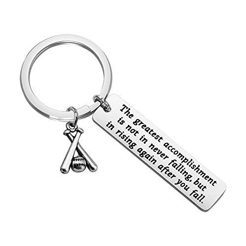 Baseball-Schlüsselanhänger, inspirierend, Baseball-Spieler, Geschenk, Baseballschläger, Schlüsselanhänger für Sportliebhaber