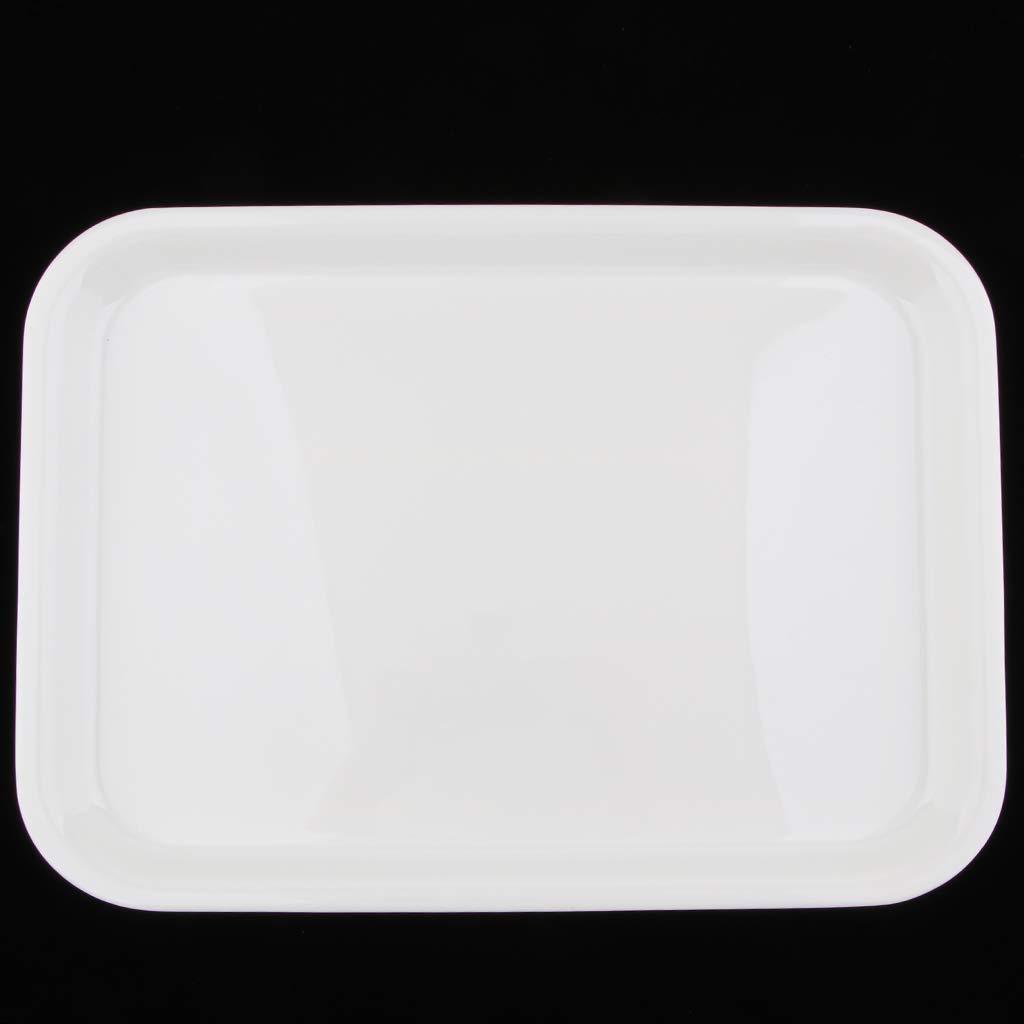 Serving Tray Melamine Plastics Dish Plate Hotel Rectangular Platter 4 Sizes