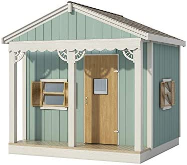 Kids Playhouse Plans DIY Micro Cottage Guest House Backyard Storage Shed 8 x 8 product image