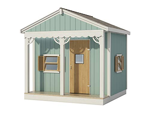 Kids Playhouse Plans DIY Micro Cottage Guest House Backyard Storage Shed 8' x 8'