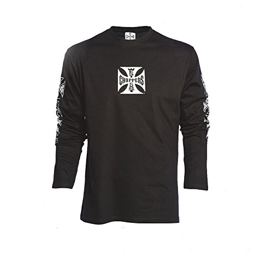 West Coast Choppers OG Cross Long Sleeve , Color:black;Größe:M