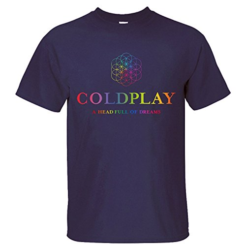 Uomo's Coldplay A Head Full Of Dreams 2016 Tour T-Shirt Medium