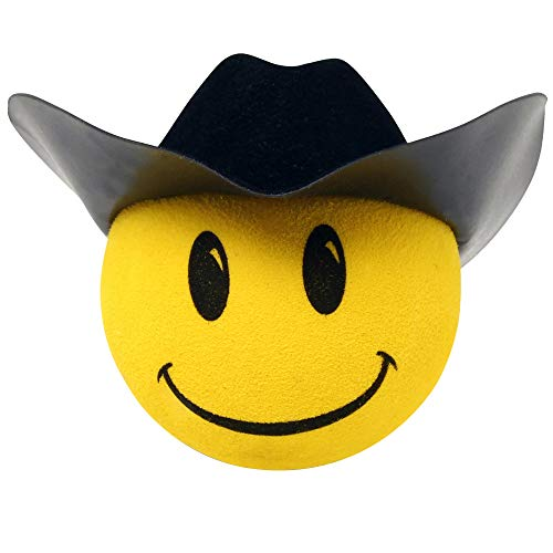HappyBalls Happy Cowboy Car Antenna Topper / Antenna Ball / Mirror Dangler / Desktop Spring Stand (Fits Thick Fat Style Antenna)