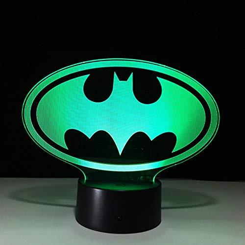 DGUOHAC Iluminación Creativa visión Nocturna Batman superhéroe Juguetes de rol