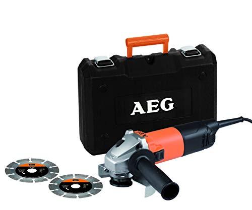 AEG Winkelschleifer mit Koffer, 800 W Motor, mit Wiederanlaufschutz und Spindelarretierung - WS 8-125SK